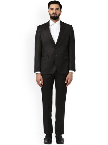 Raymond Men Black Solid Single-Breasted Tailored Fit Formal Suit