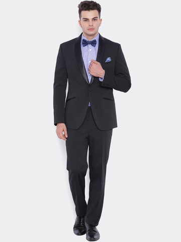 SUITLTD Men Black Slim Fit Party Suit