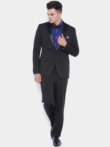 SUITLTD Men Black Single-Breasted Slim Fit Party Suit