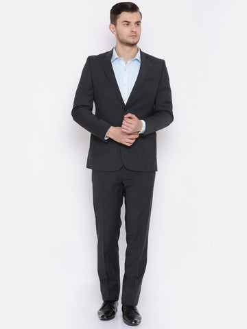 Raymond Men Grey Single-Breasted Regular Contemporary Fit Formal Suit