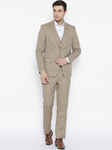 Arrow Men Beige Body Tailored Fit Formal Suit