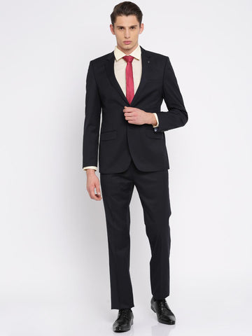 Raymond Deep Navy Single-Breasted Regular Contemporary Fit Formal Suit