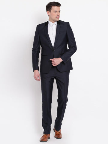 Blackberrys Navy Contemporary Fit Single-Breasted Partywear Suit