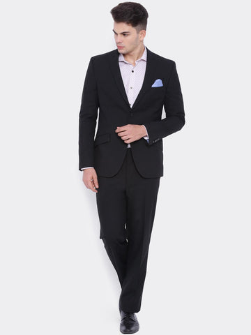 SUITLTD Men Black Single-Breasted Slim Fit Formal Suit