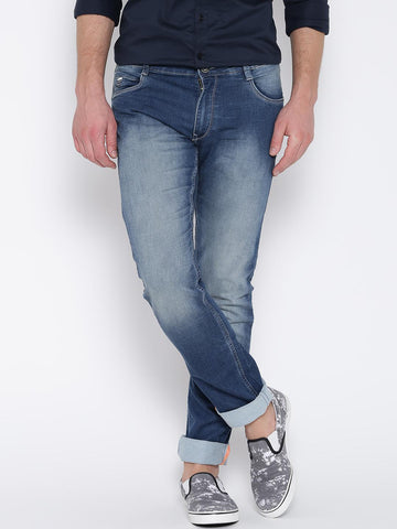 John Players Blue Washed Comfort Skinny Jeans