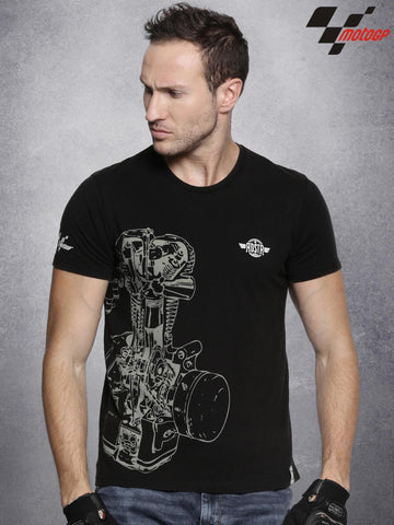 RDSTR Black MotoGP Washed Printed T-Shirt