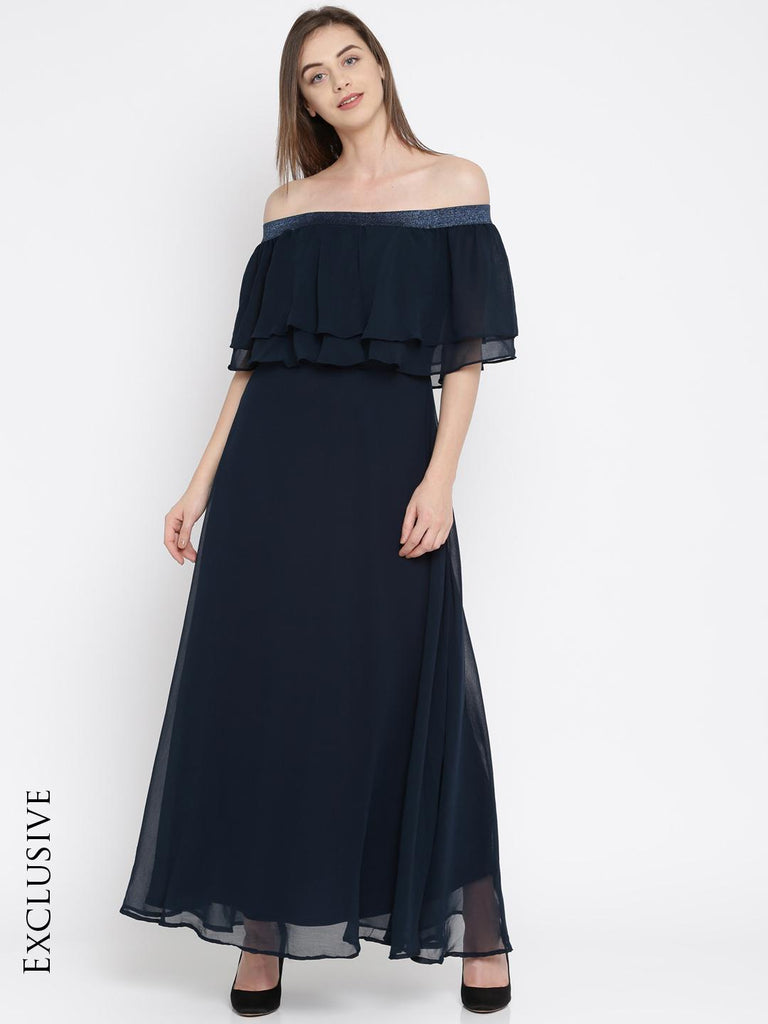 c976bf4b9af RARE Women Navy Solid Maxi Dress – similar recommendations