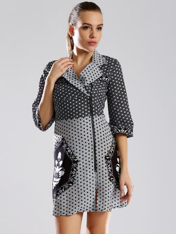 DressBerry by Rahul Mishra Black & White Printed A-Line Dress