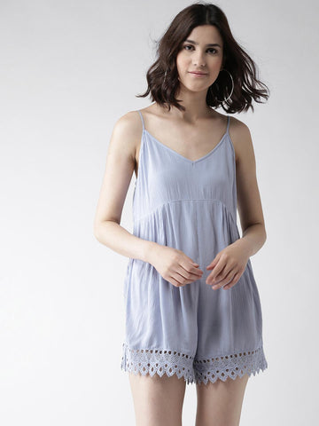 FOREVER 21 Blue Playsuit