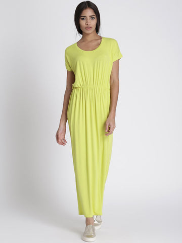 Chemistry Women Green Solid Maxi Dress