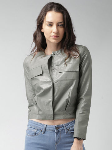 Mast & Harbour Grey Biker Jacket