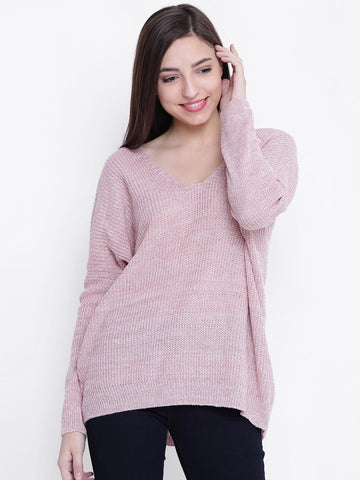 FOREVER 21 Women Pink Solid Sweater