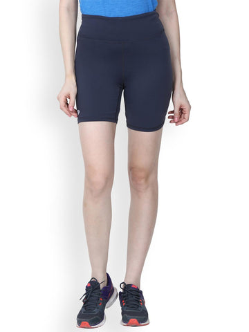 Arcley Women Blue Solid Slim Fit Sports Shorts