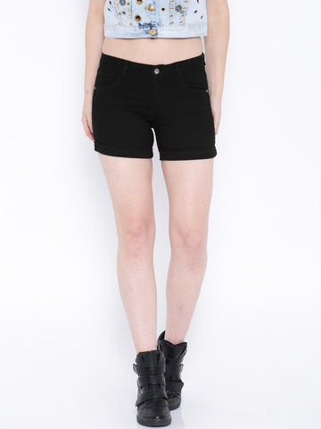 Kraus Jeans Black Denim Shorts