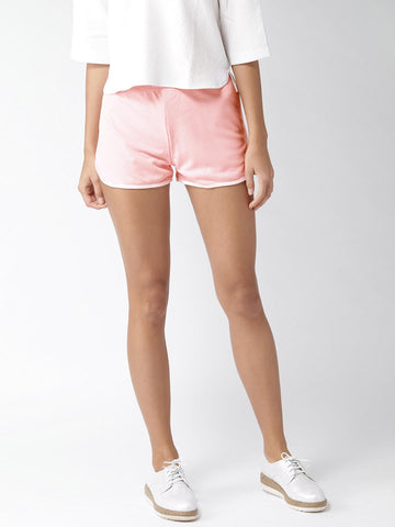 FOREVER 21 Women Pink Solid Regular Fit Regular Shorts