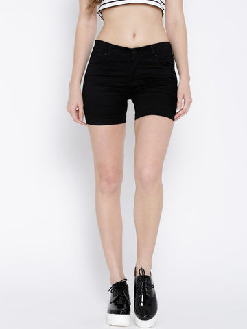 Devis Black Denim Shorts