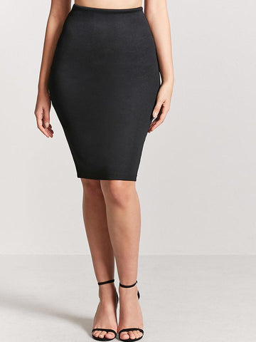 FOREVER 21 Women Black Pencil Skirt