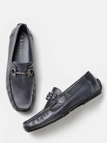 Mast & Harbour Men Navy Blue Solid Driving Shoes