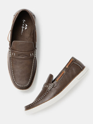 Mast & Harbour Men Brown Penny Loafers