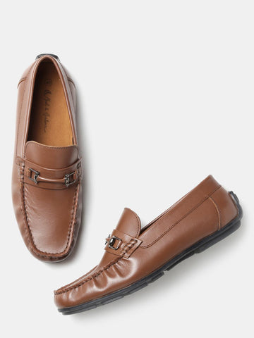 Mast & Harbour Men Brown Solid Driving Shoes