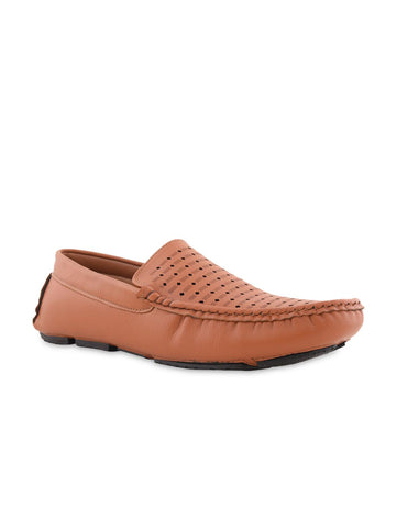 Bruno Manetti Men Tan Brown Loafers
