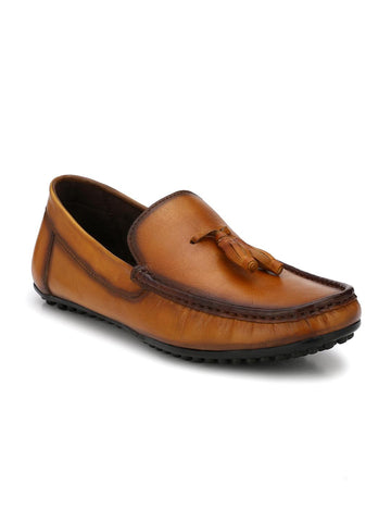 El Paso Men Tan Loafers