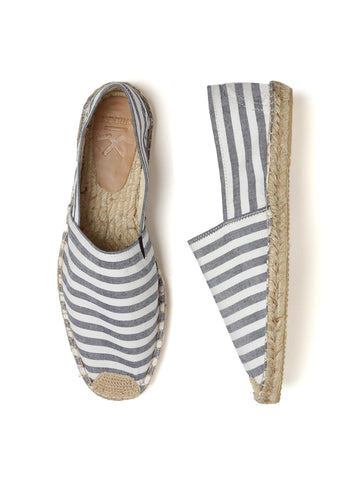 WROGN Men White & Blue Striped Espadrilles
