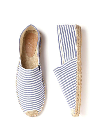 WROGN Men Blue & Off-White Striped Espadrilles