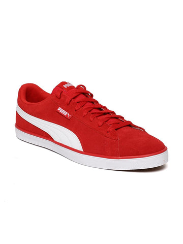 Puma Men Red Urban Plus SD Suede Sneakers