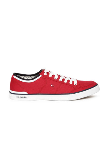 Tommy Hilfiger Men Red Solid Sneakers