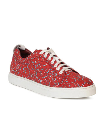 Alberto Torresi Men Red Printed Sneakers