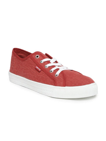 Levis Men Red Malibu Sneakers