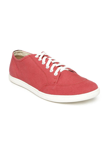 Knotty Derby Men Red Solid Hooch Toe Guard Sneakers