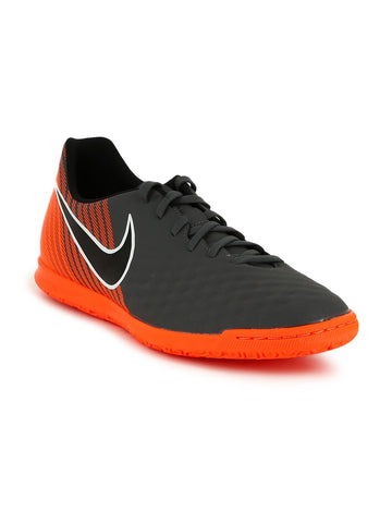 Nike Men Grey & Orange OBRAX 2 CLUB IC Football Shoes