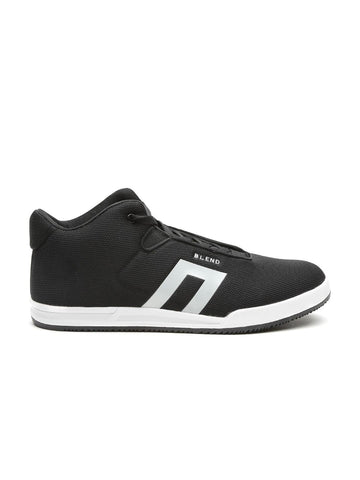 BLEND Men Black Mid-Top Sneakers