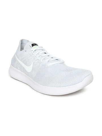 Nike Men White FREE RN FLYKNIT 2017 Running Shoes