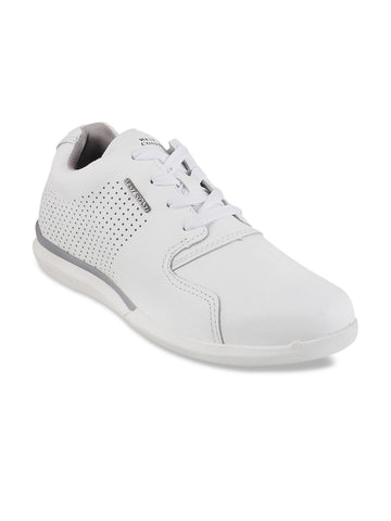 WEST COAST Men White Leather Sneakers