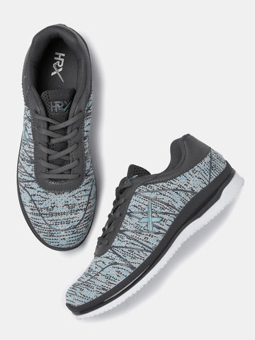 HRX by Hrithik Roshan Women Grey & Blue Woven Running Shoes
