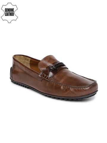 Ruosh Men Brown Driving Shoes