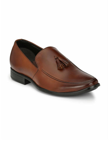 BBT Men Tan Solid Brogues Semiformal Shoes