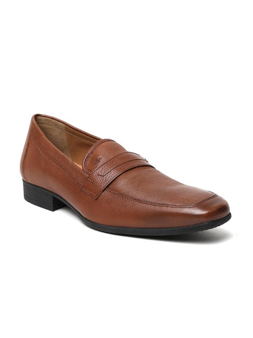 Arrow Men Brown Tyler Leather Formal Slip-Ons