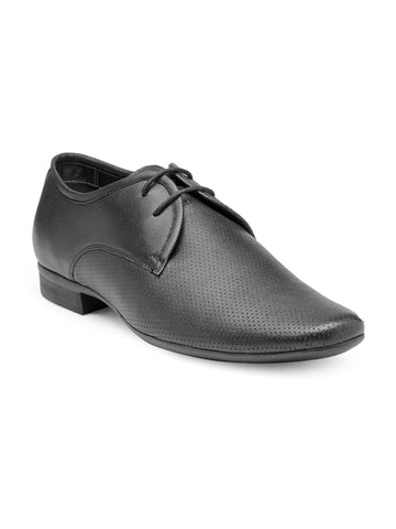 Franco Leone Men Black Formal Derby Shoes