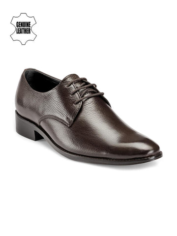 Teakwood Leathers Men Coffee Brown Leather Derbys