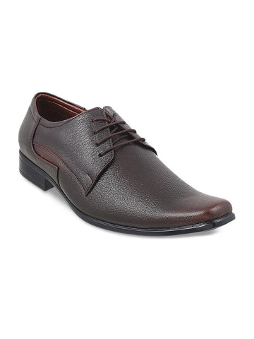 Metro Men Brown Leather Derbys