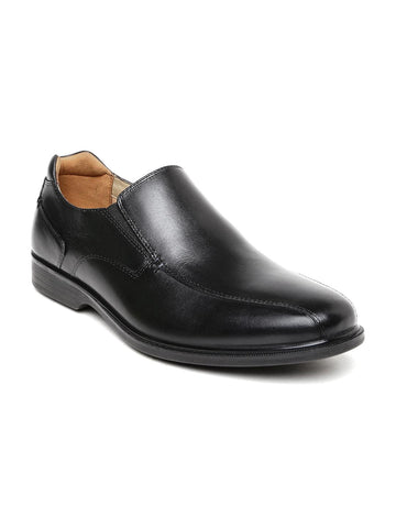 Hush Puppies Men Black Leather Semiformal Slip-Ons