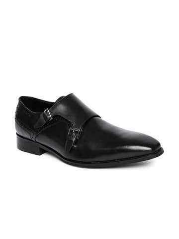 Ruosh Men Black Monk Shoes