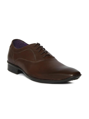 Knotty Derby Men Brown Leather Oxfords