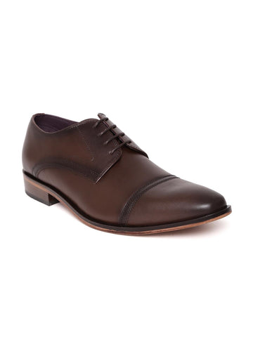 Luxure by Louis Philippe Men Brown Genuine Leather Derbys