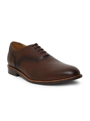 WAYNE WRIGHT Men Coffee Brown Formal Leather Shoes