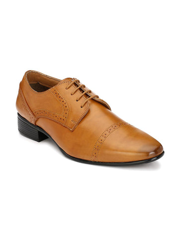 Hi RELs Men Tan Brown Formal Shoes